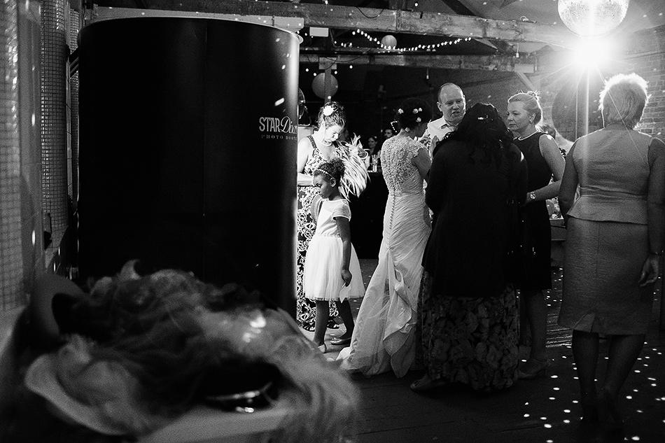 cool wedding photographer warehouse wedding powerhouse
