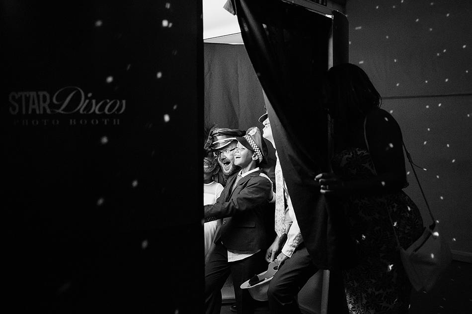 black and white wedding photo booth brisbane powerhouse wedding