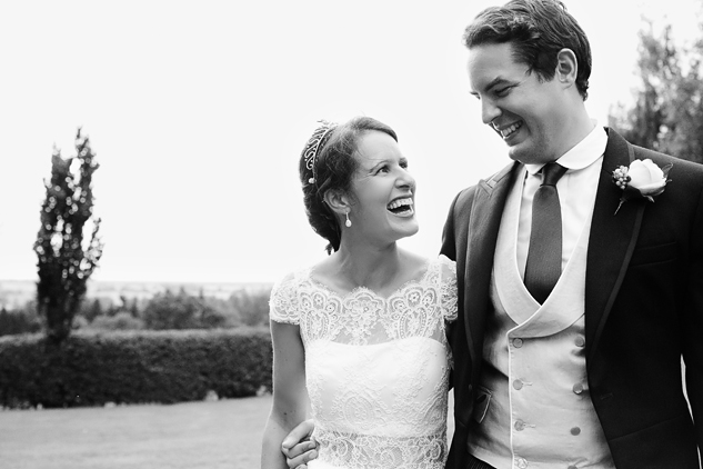 creative wedding portrait black and white photo