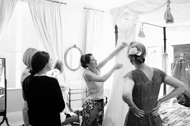 black and white wedding photography getting ready photos