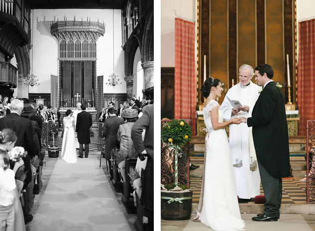 creative wedding photography in a church old malton