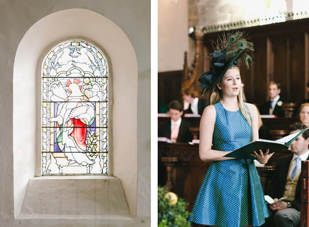 wedding photography in a church