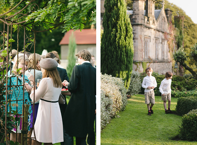 creative wedding photography in the garden