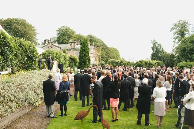 wedding photography reception in the garden during speeches photography