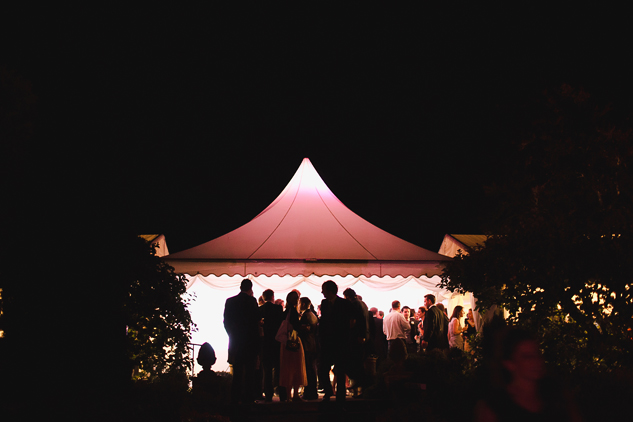 wedding photography in a tent or tipi night photography