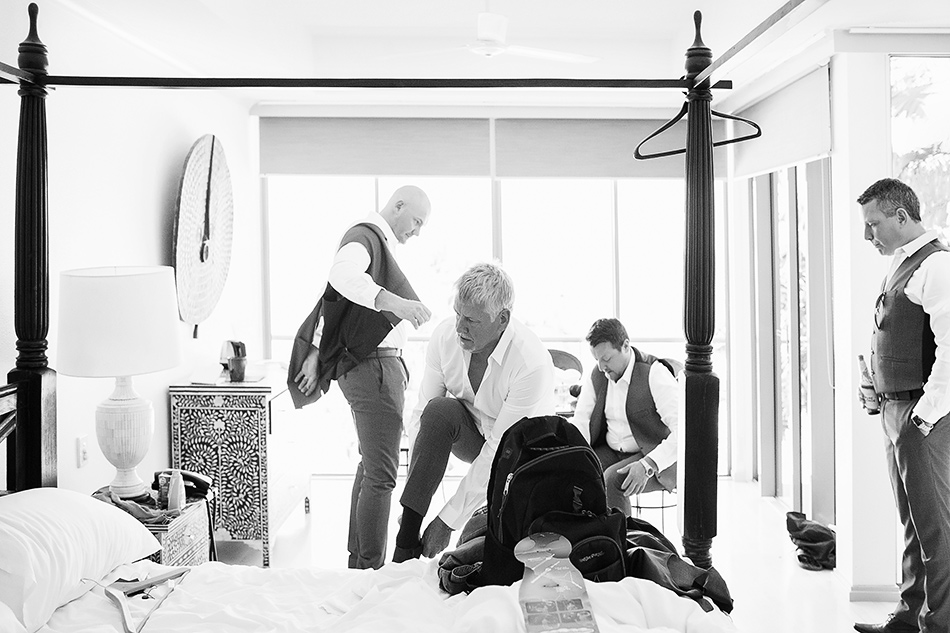 getting ready with the groom at the elandra mission beach