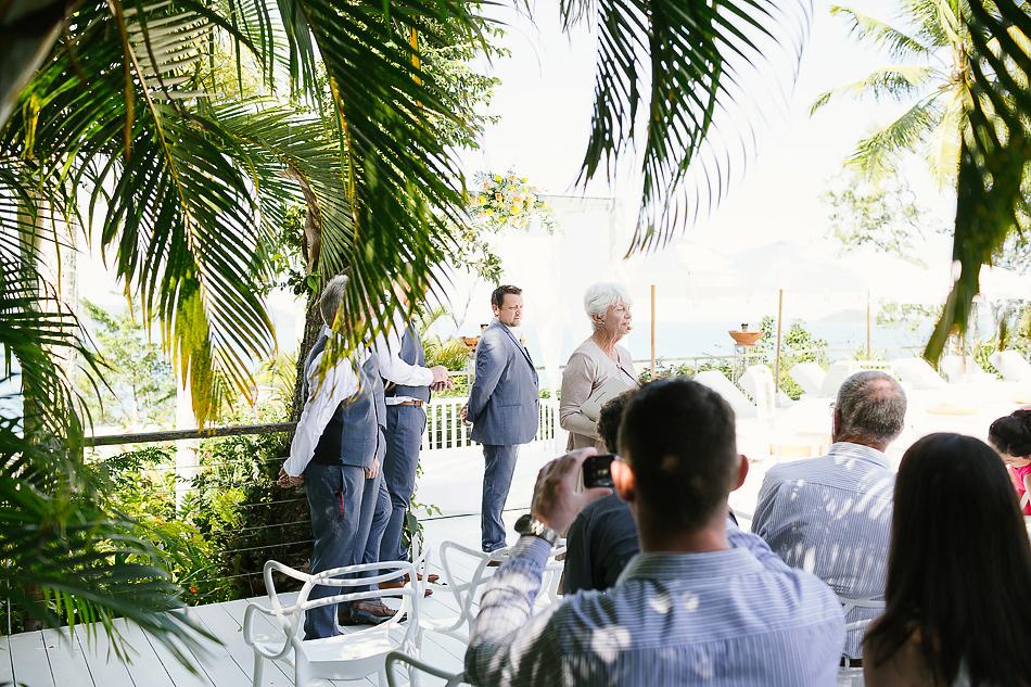 wedding ceremony at the elandra mission beach
