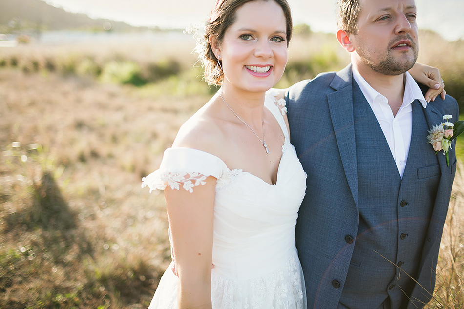 cool wedding photography in a field near the elandra mission beach