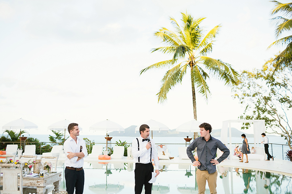 welcoming the bride at the elandra mission beach