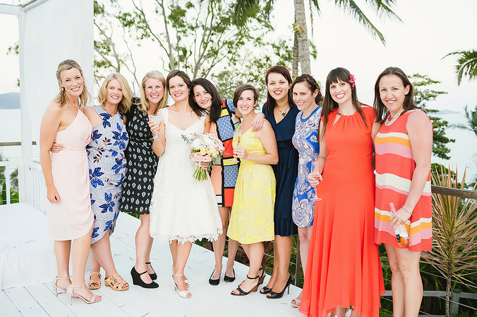 party photos at the elandra bride with her girl friends