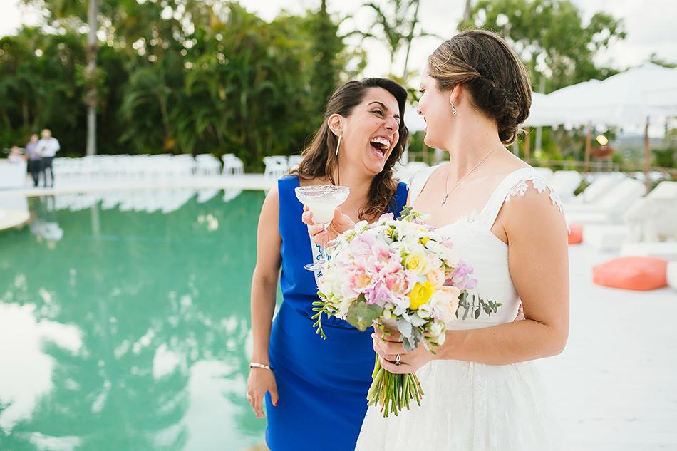 bride with guests photos
