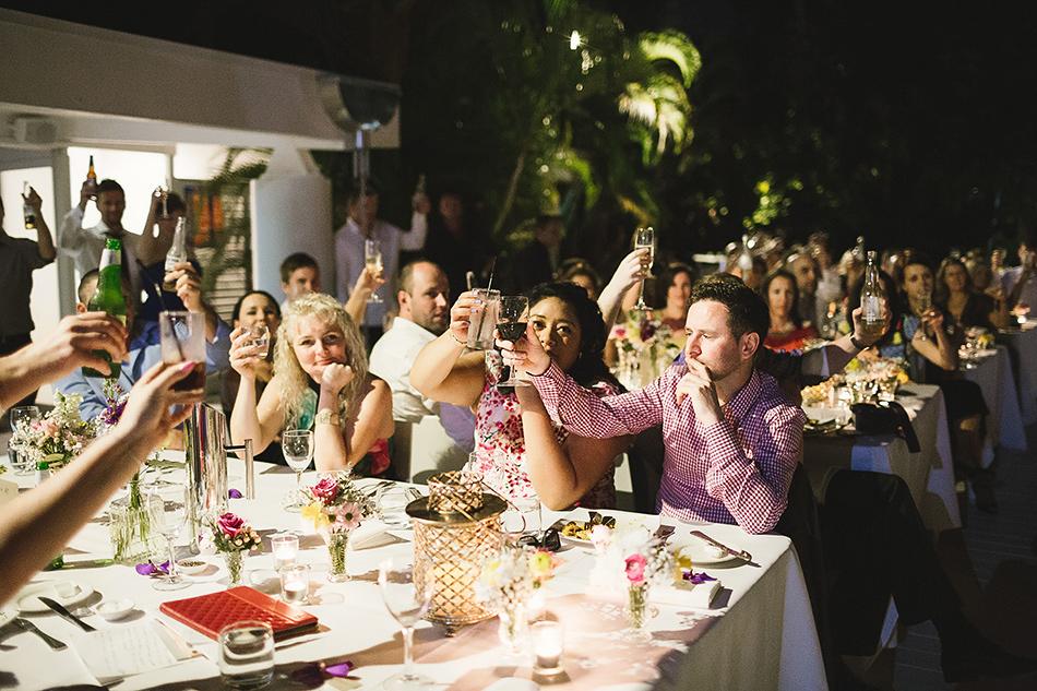 outdoor wedding at the elandra mission beach wedding
