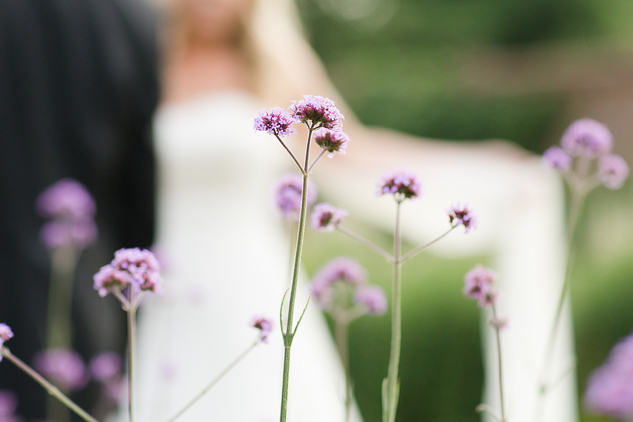 bridal flowers and bridal portrait with lavender and bride and dress by clair estelle photography