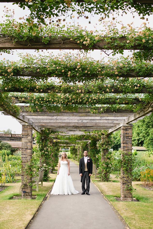 creative reportage wedding photography boho diy festival wedding at kew gardens in a field or garden bride and groom portrait brisbane