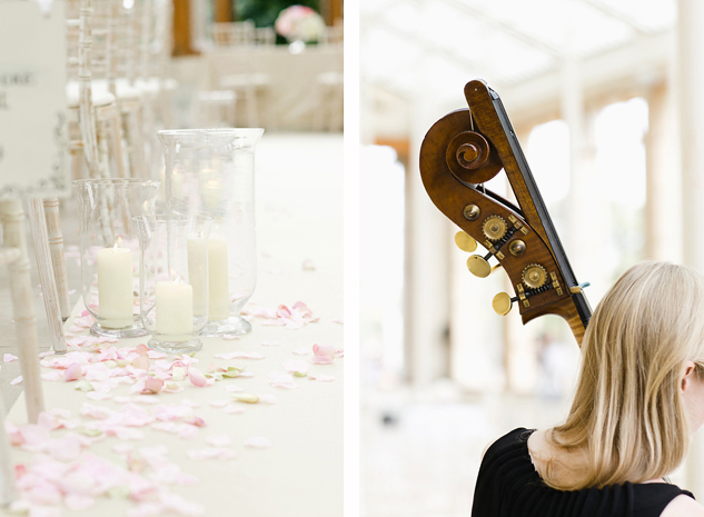 creative reportage wedding photography at kew gardens a string quartet