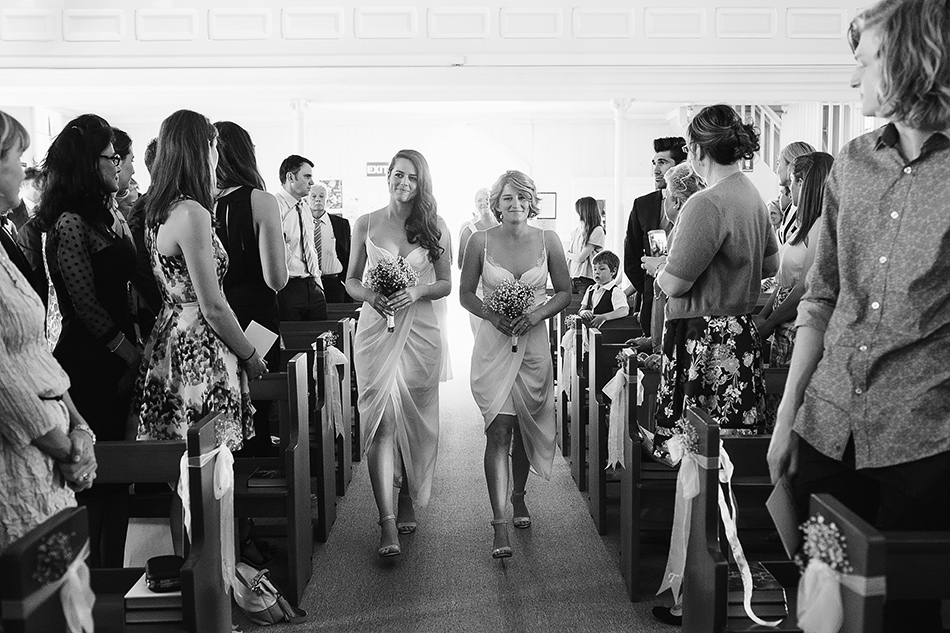 black and white wedding photographer brisbabe christ the king church wedding