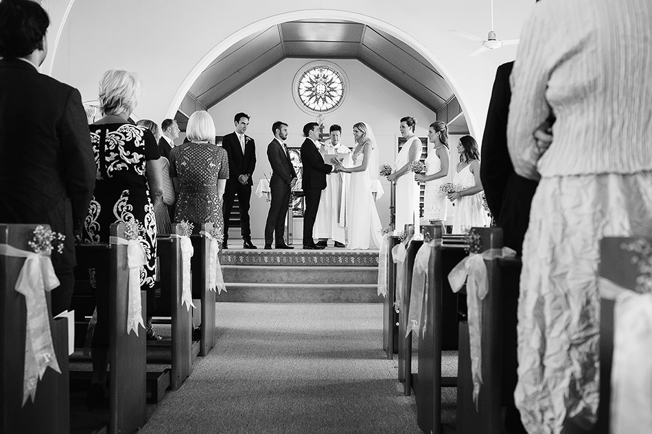 black and white wedding photographer christ the king church