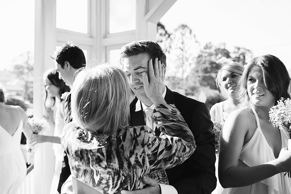 black and white wedding photographer brisbane wedding christ the king church