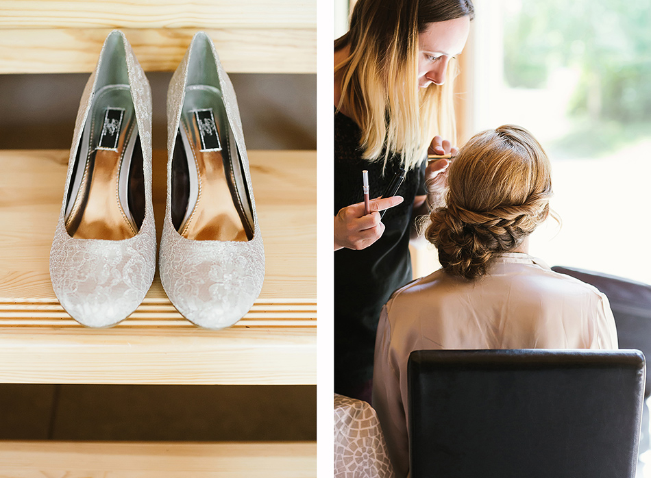 bridal preparation getting ready with family wedding photography