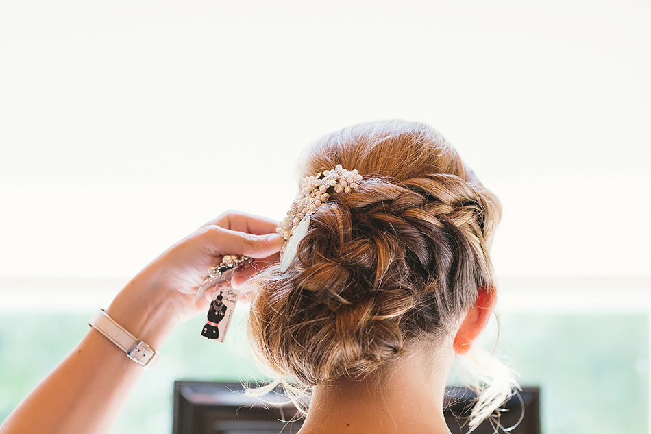 wedding day hair photos