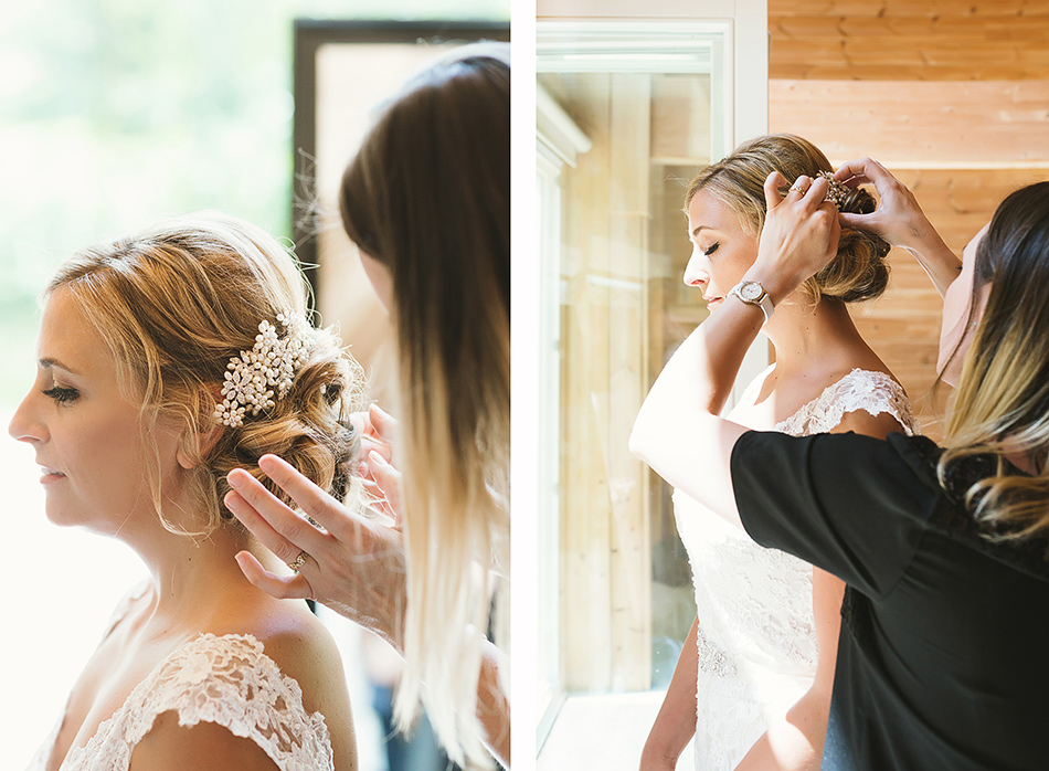 wedding hair photography of a wedding day
