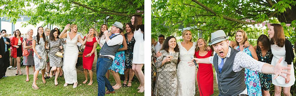 cool wedding photography party photos in the garden