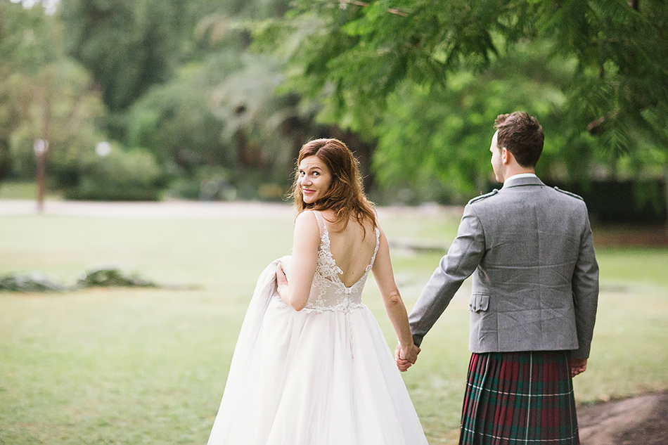 Creative Brisbane Wedding Photographer Cool In A Field Or Garden Outdoor